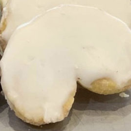 Palmeritas de chocolate blanco