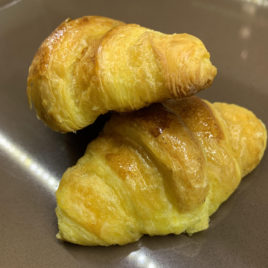 Croissants de mantequilla sin chocolate