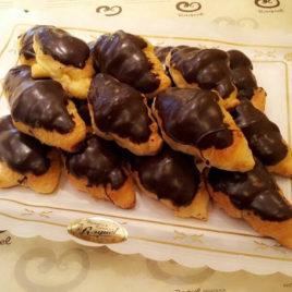 Croissants de margarina con chocolate