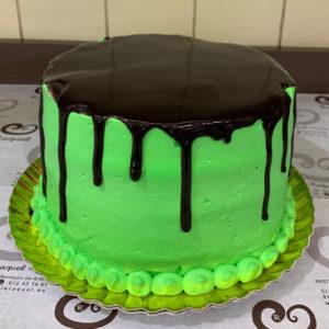 hulk drip cake
